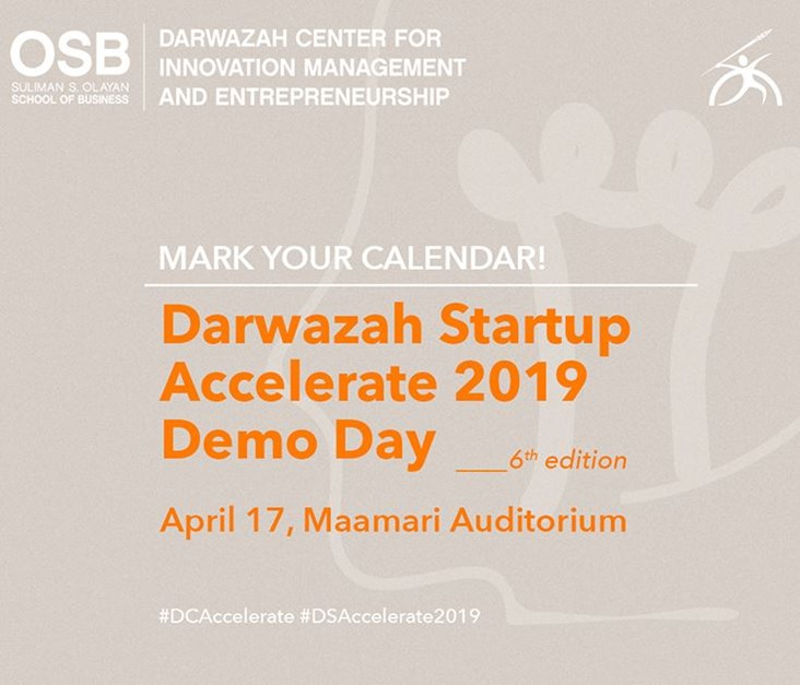 Darwazah Startup Accelerate 2019 Will Celebrate Student Innovators at Demo Day